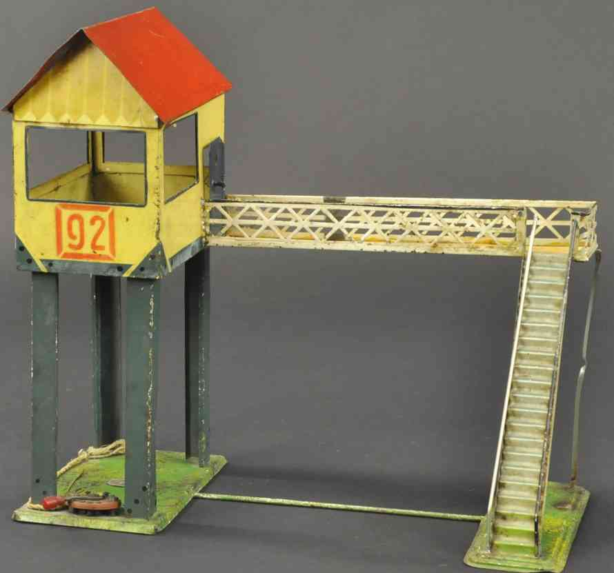 plank ernst railway toy overhead foot bridge observation