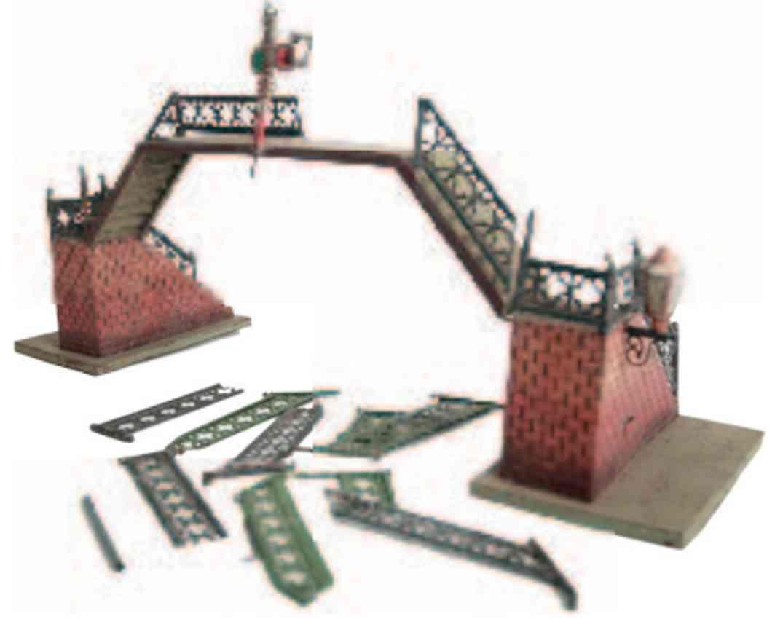 rock & graner 302/1 railway toy gangway pedestrian bridge