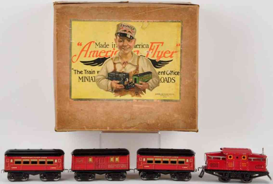 american flyer toy company elektrolok 1218 post 1205 schlafwagen 1306 rot spur 0