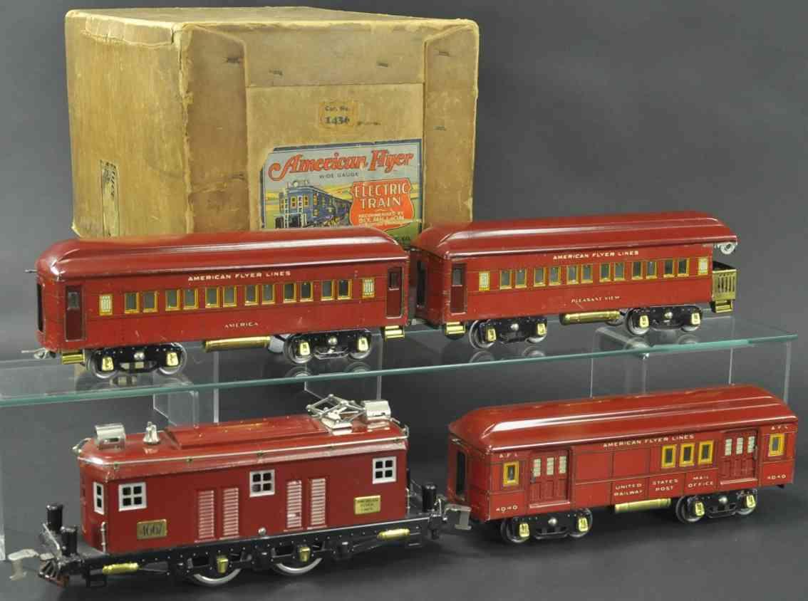 american flyer 1436 4667 nyc 4040 4014 4041 personenzug rot wide gauge