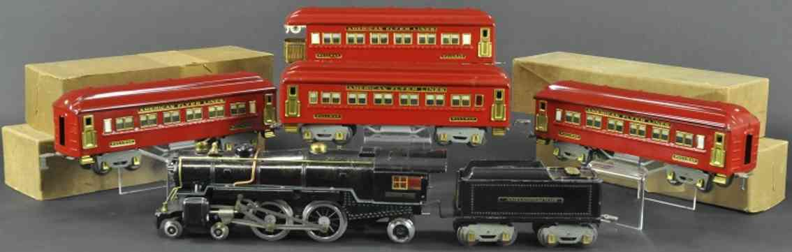 american flyer 1479rc trojan rot personenzug 4682 4671 4331 4332 red wide gauge