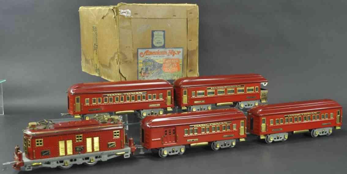 american flyer 1484 hamiltonian personenzug rot 4678 4340 4341 4342 red standard gauge