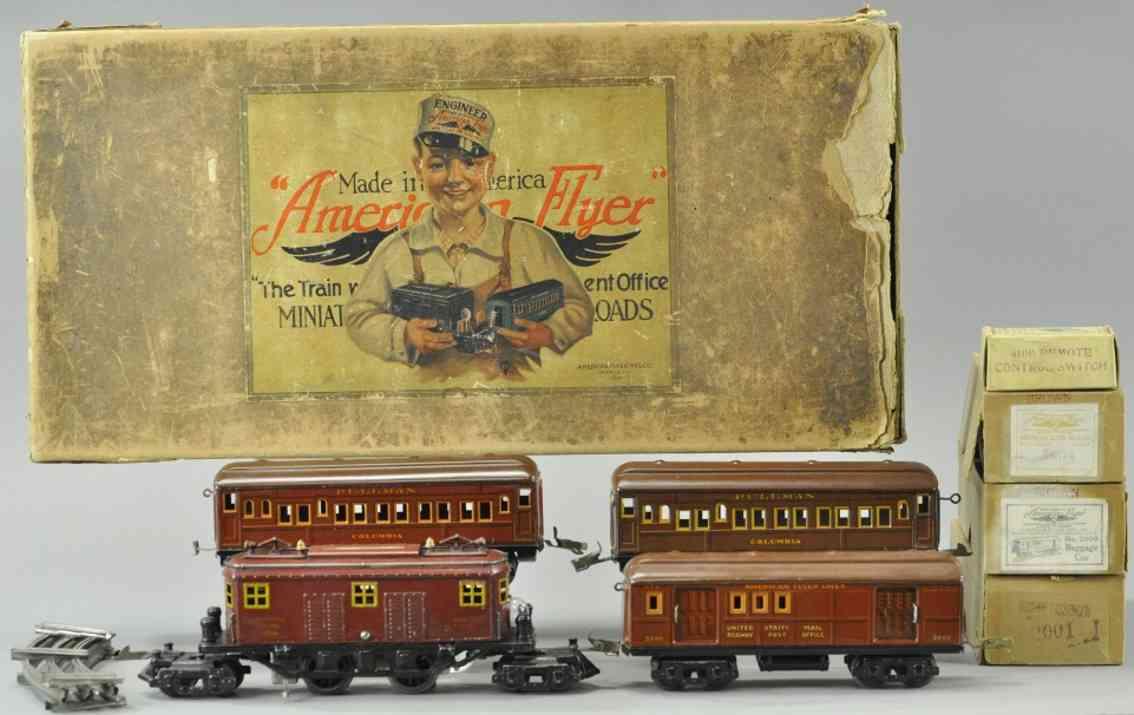 american flyer 3020 3000 spielzeug eisenbahn columbia personenzug spur 0