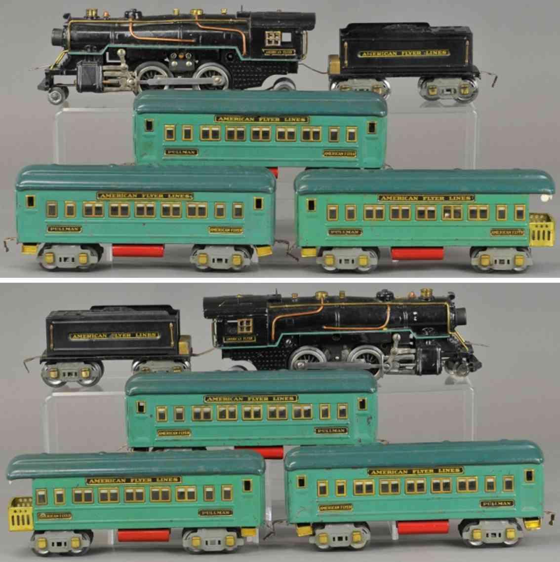 american flyer 3326 3199 3281 3282 railway toy train passenger set