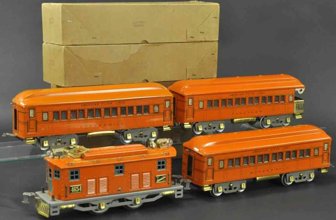 american flyer 4654 personenzug bunker hill yorktown orange wide gauge
