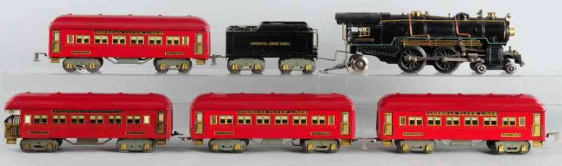 american flyer 4695 4671 4331 4332 eisenbahn personenzug standard gauge