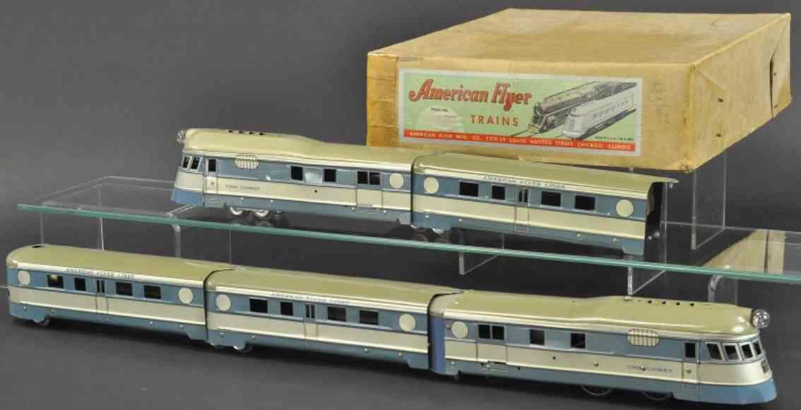 american flyer 922rt spielzeug eisenbahn personenzug blue comet spur 0
