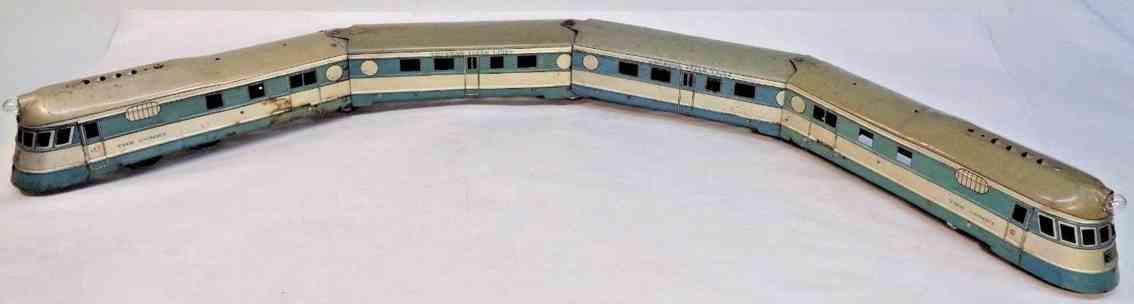 american flyer toy company 992rt railway toy streamliner the comet gauge 0