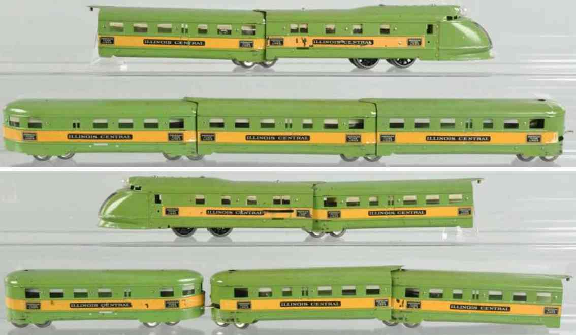 American Flyer Green Diamond  Lokomotive 9962 Personenwagen 9954 9955
