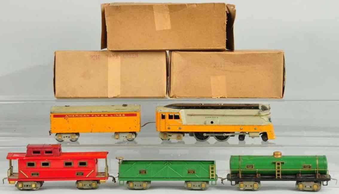 American Flyer Toy Company Hiawatha Frachtzug