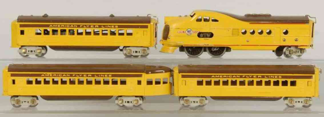 American Flyer Toy Company Union Pacific stromlinienförmiges Zugset
