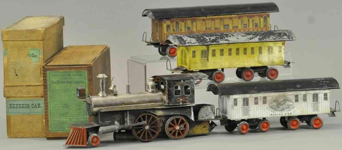 beggs eugene spielzeug eisenbahn personenzug dampflokomotive drei wagen