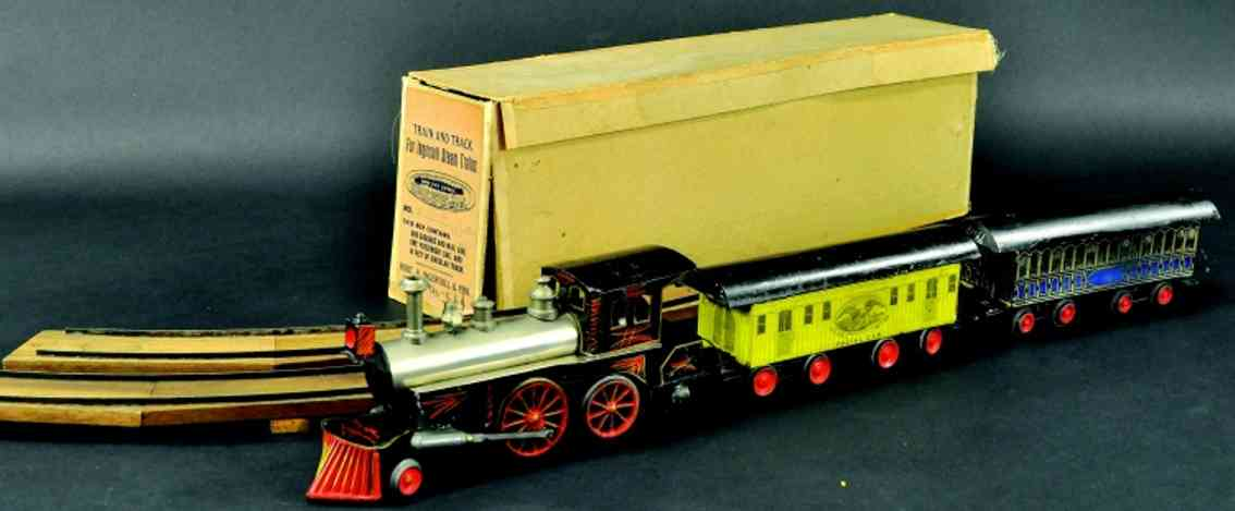 beggs eugene eisenbahn echtdampflokomotive zwei personenwagen