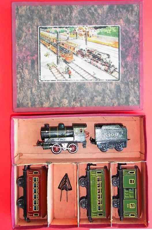 bing 11/640 spielzeug eisenbahn zug schwachstrom-dampflokomotive 11/640 mit tender und schneepfl