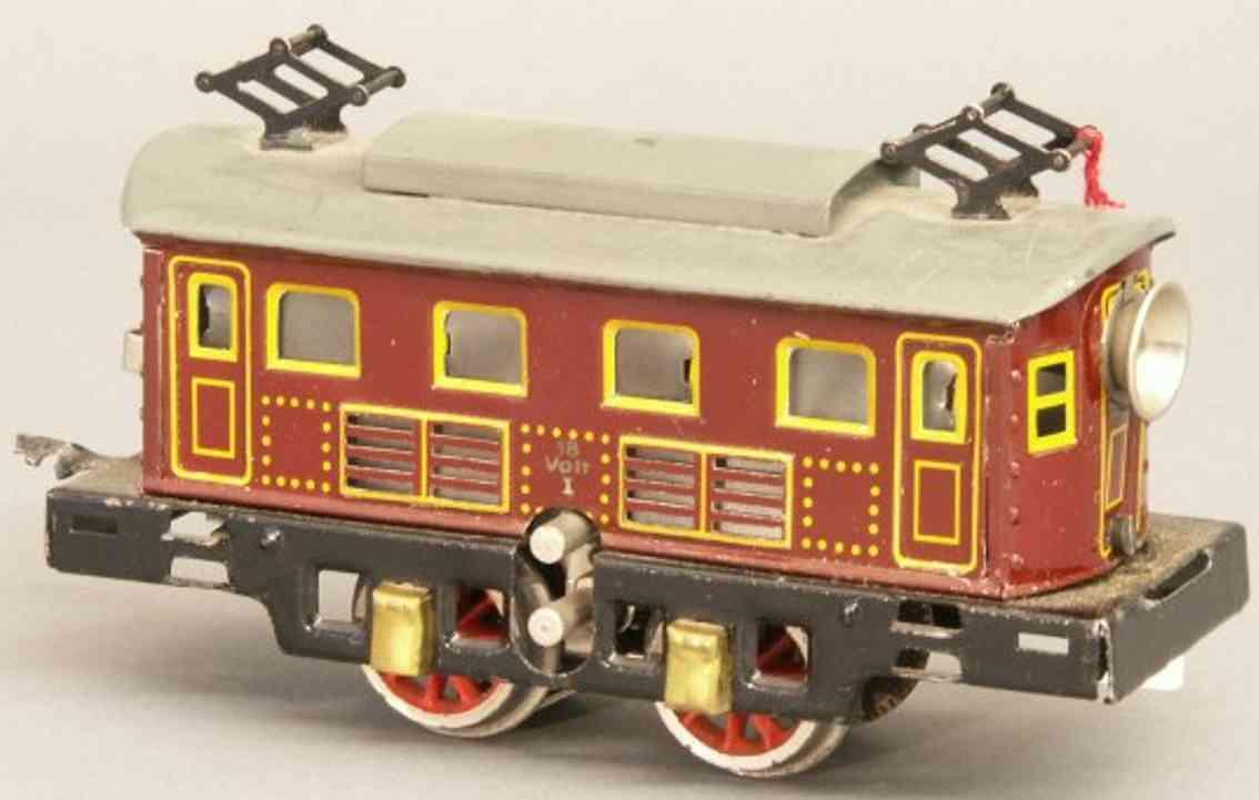 bing 11/881 spielzeug eisenbahn zug zug bestehend aus 18 volt elektrolokomotive 11/881 in braun