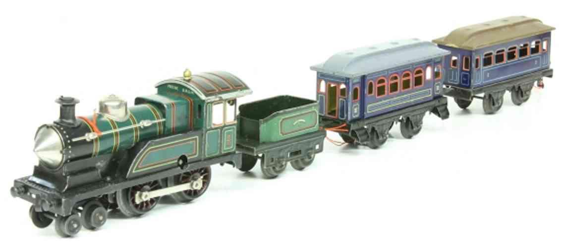 bing 170/591 spielzeug eisenbahn zug uhrwerk-schlepptenderlokomotive 170/1591 2'b/2a, lithografie