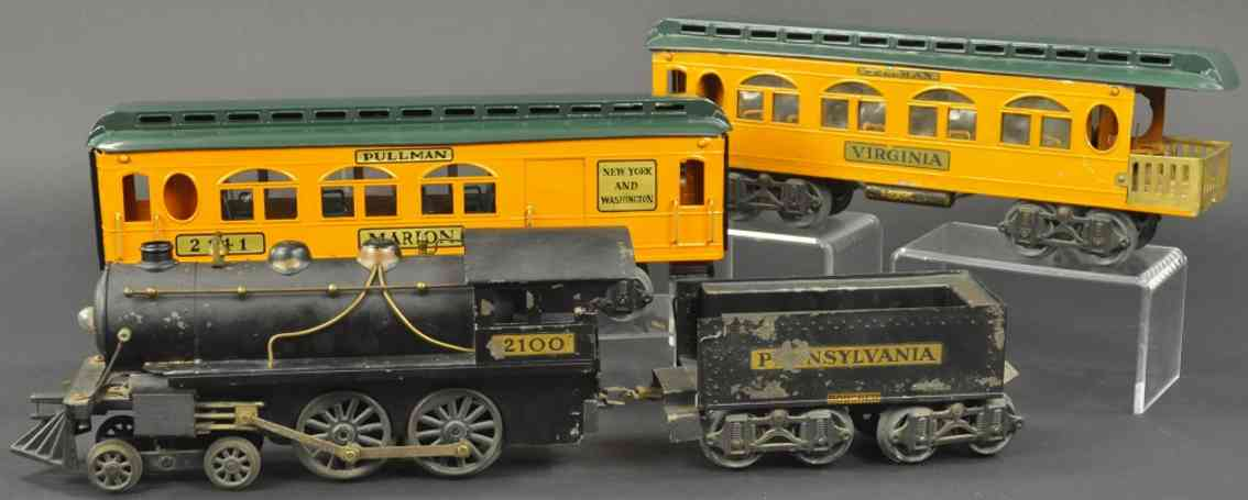 boucher he mfg co 2100 2107 2141 personenzug lokomnotive standard gauge/wide