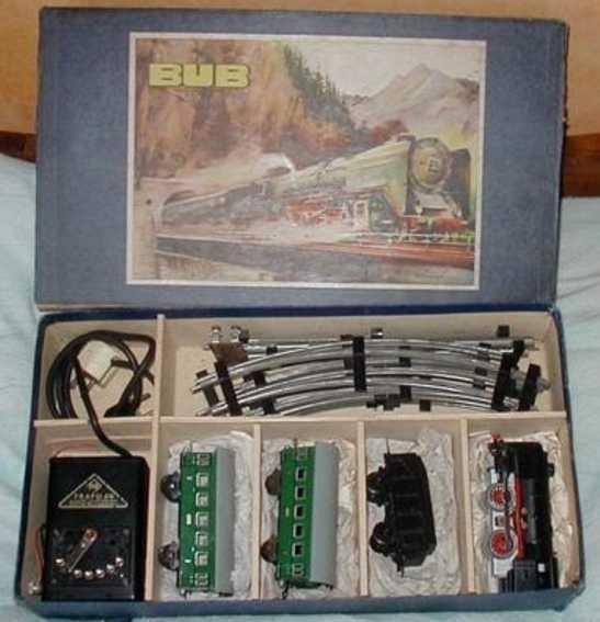 karl bub spielzeug eisenbahn zugpackung lokomotive tender 2 personenwagen spur 0