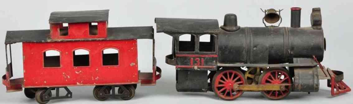 Carlisle & Finch 131 Zug Lokomotive 131 und Caboose
