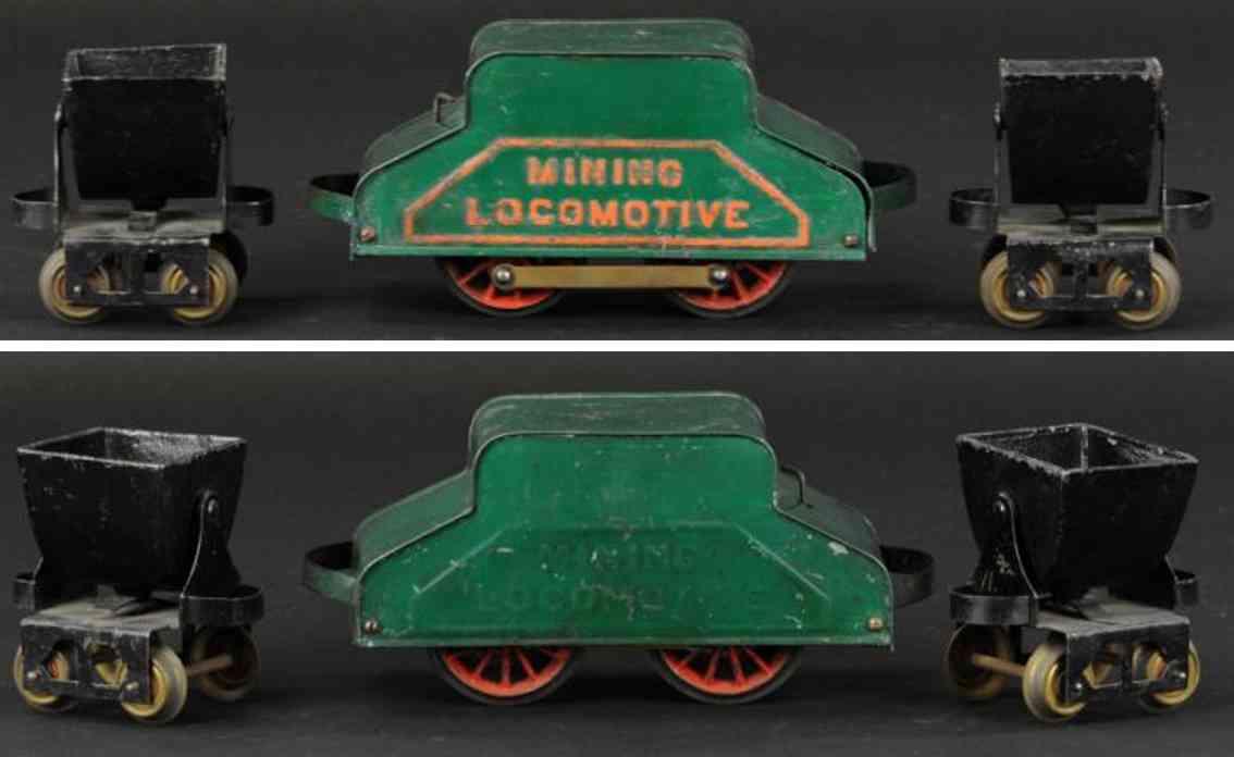 carlisle & finch 17 eisenbahn  bergbaulokomotive zwei kippwagen