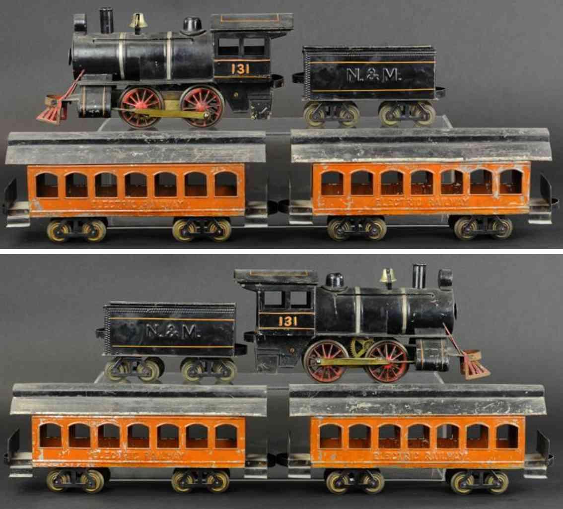 carlisle & finch 4 eisenbahn personenzug mit elektrolokomoitve tender