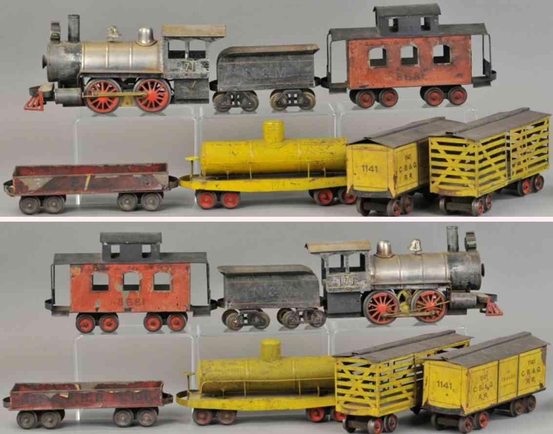 carlisle & finch lokomotive 4wagen  12 48 49 131 frachtzug