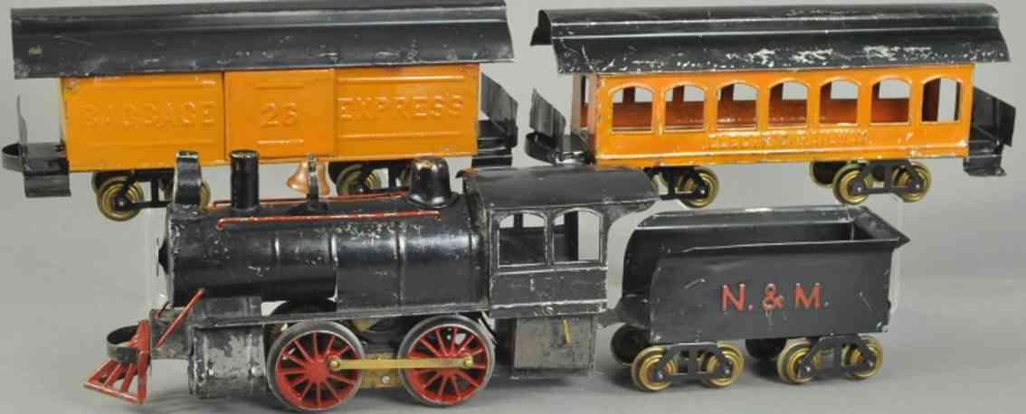 carlisle & finch lokomtoive 4 gepaeckwagen 26 schwarz orange standard gauge