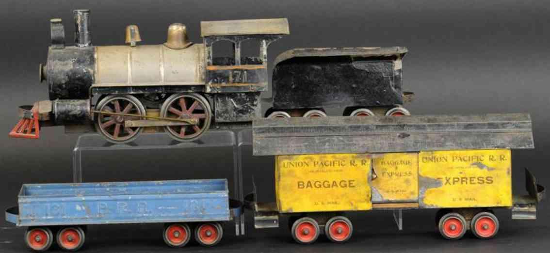 carlisle & finch eisenbahn zug lokomotive nr 4 zwei gueterwagen standard gauge