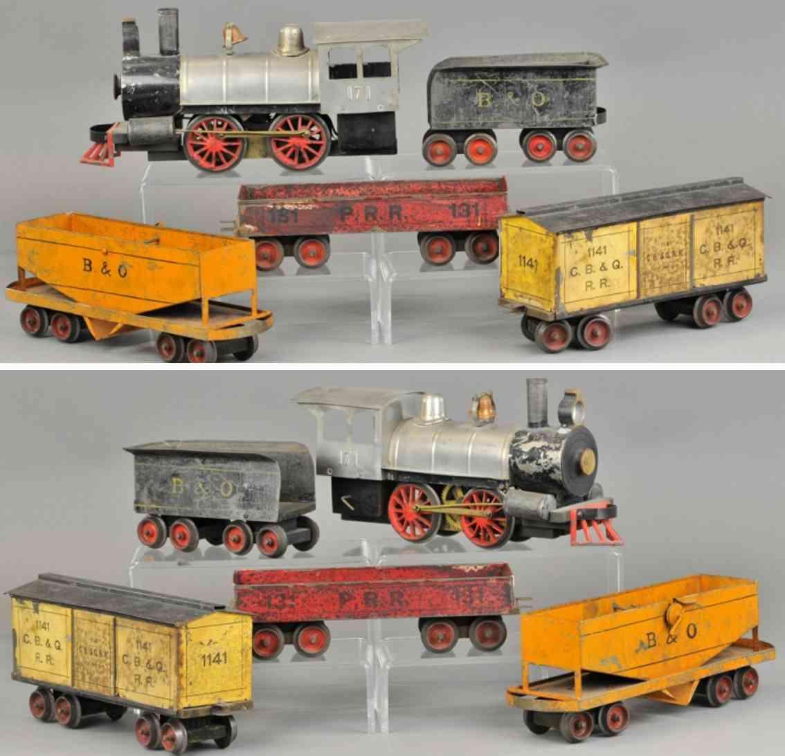 carlisle & finch frachtzug lokomotive 4 wagen 47 12 1141 11