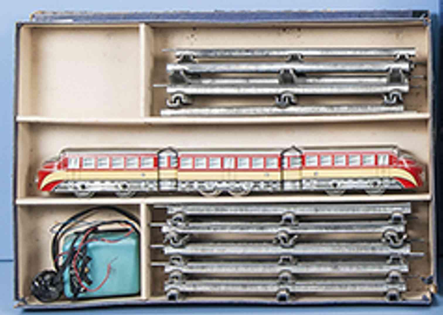 distler johann railway toy starter set diesel multiple unit 3-part railcar gauge 0