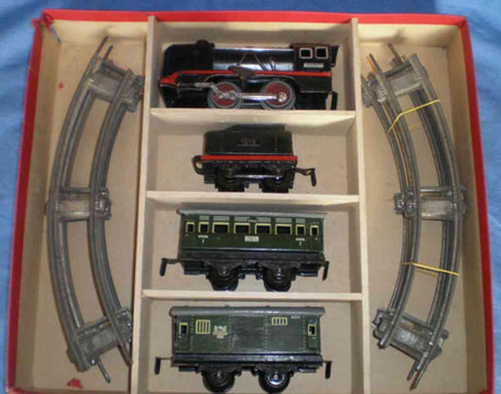 distler 11/4 zugpackung uhrwerklokomotivetender 1518 personenwagen 2040 gepaeckwagen 4051 spur 0