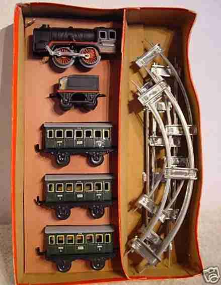 distler personenzug uhrwerklokomotive kohletender spur 0
