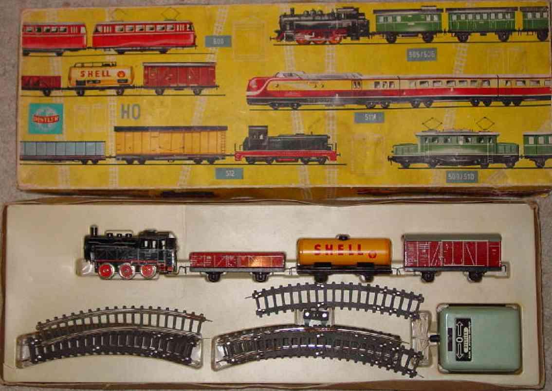 distler johann 506 railway toy train steam loco shell tanker gondola box gauge h0