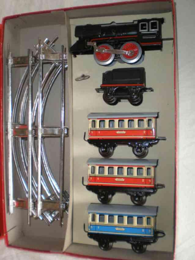 distler johann 6/5 railway toy passenger train loco three passenger cars gauge 0