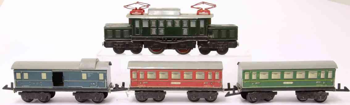 distler johann el 34/4 railway toy passenger train cars 256/4 258/4 275/4 gauge 0