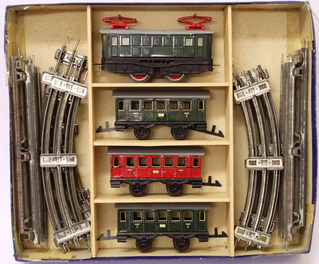 distler johann railway toy train set three passenger cars 26g gauge 0