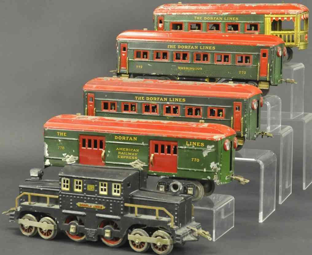 dorfan lok 3930 schlafwagen 772 aussichtswagen 773 wide gauge personenzug