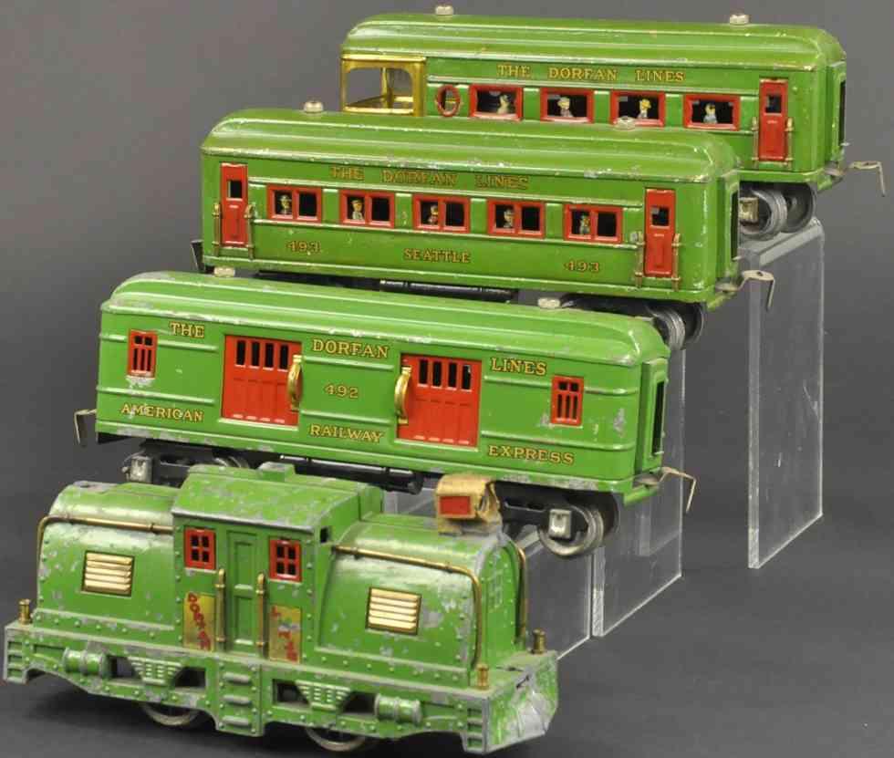 dorfan lokomotive 53 wagen 492 493 494 personenzug gruen spur 0