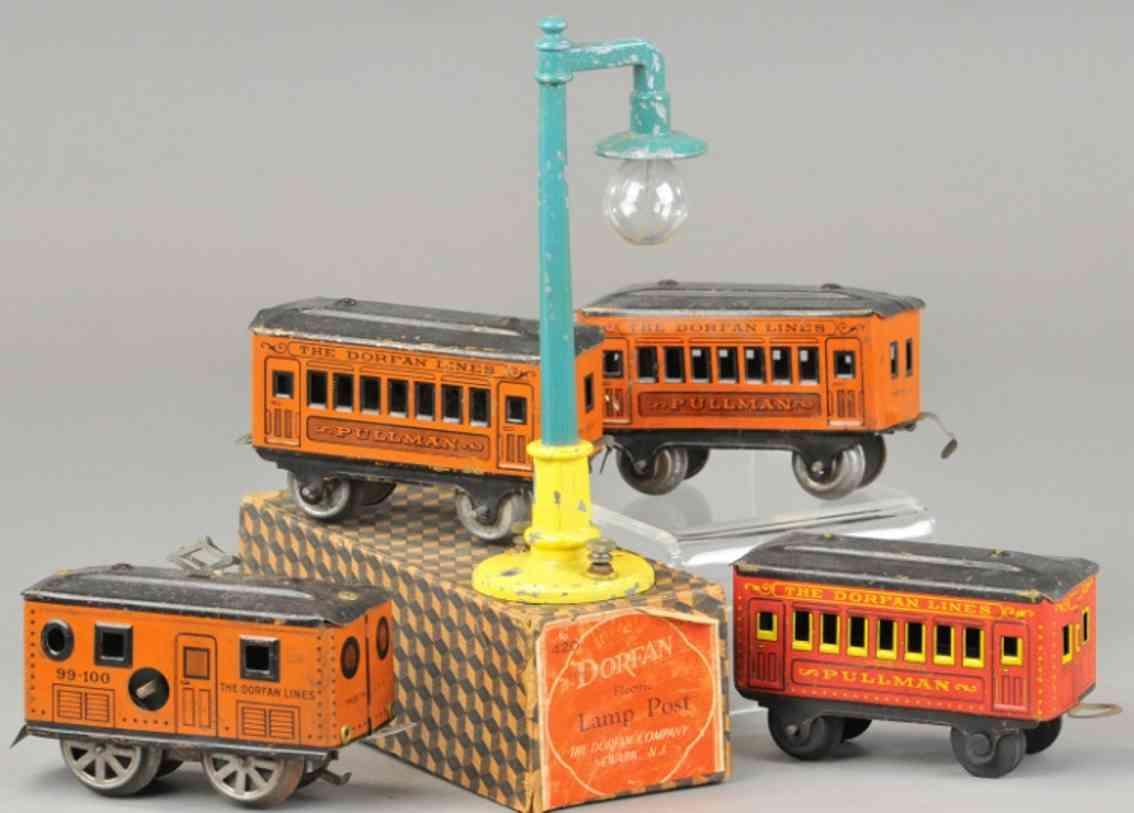 dorfan 99-100 railway toy train passenger set pullmann 420 lamp post