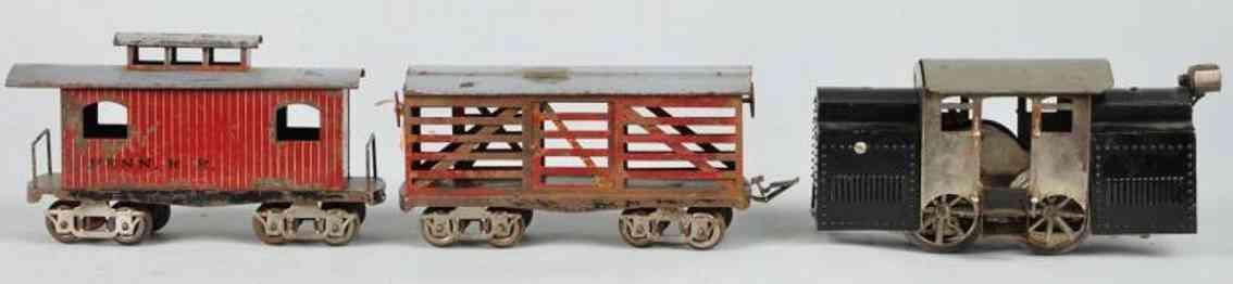 elektoy spielzeug eisenbahn gueterzug lokomotive elektrotyp