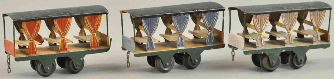 faivre jules edmond drei aussichtswagen model decauville spur 0