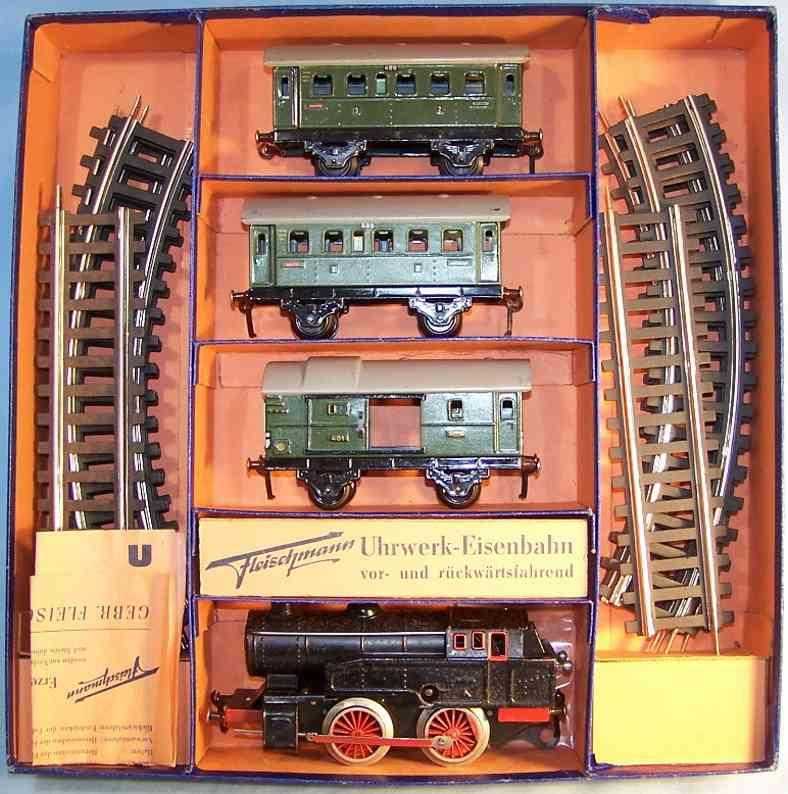 fleischmann loco e 320/3 railway toy train package passenger cars 400