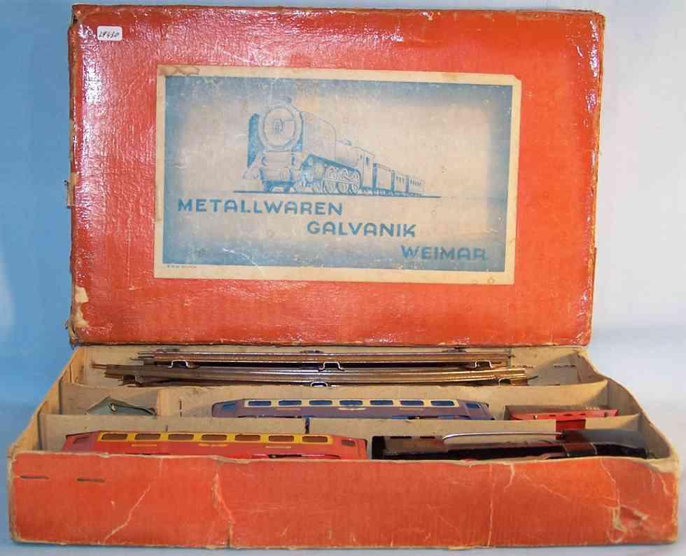 ghk galvanik weimar 105/514 eisenbahn zug uhrwerklokomotive spur 0