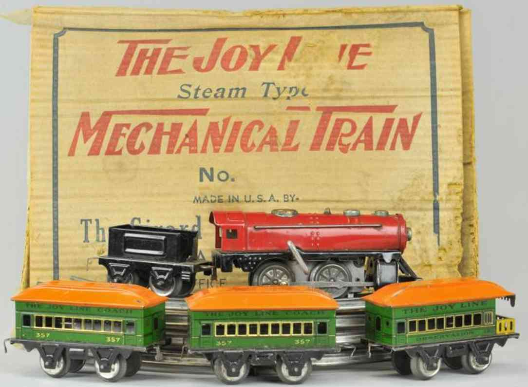 girard railway toy mechanical train set
