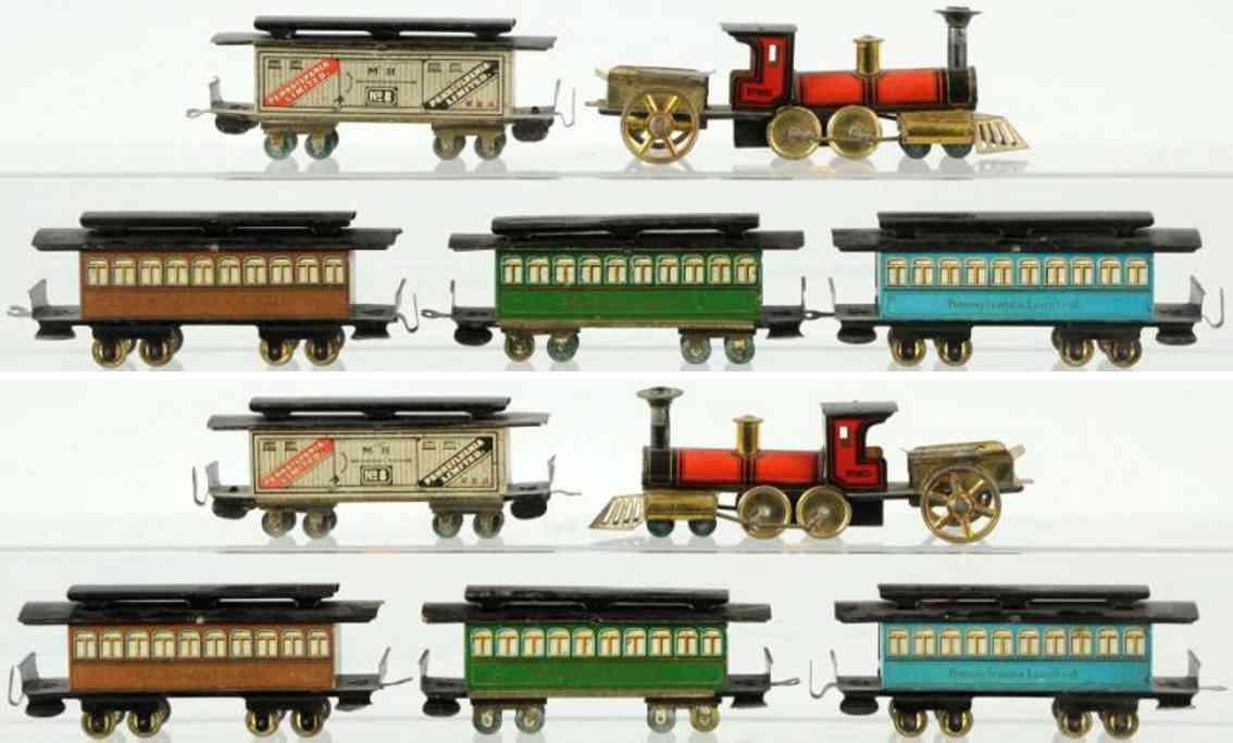 hess 1035 spielzeug eisenbahn personenzug mit uhrwerklokomotive