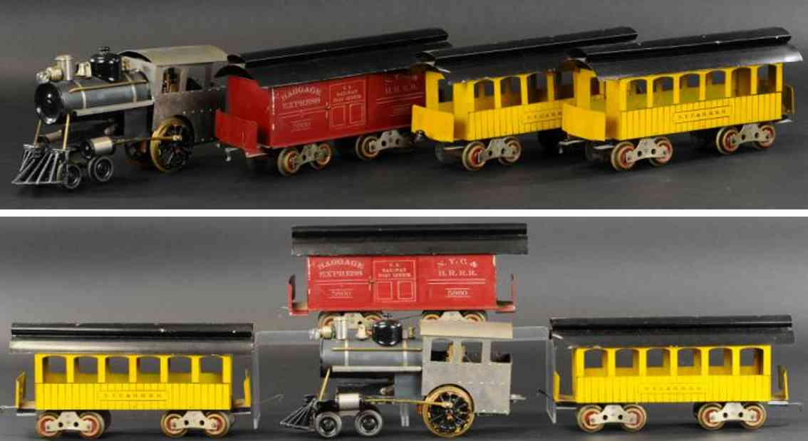 howard electric loco 6 passenger cars 23 22 railway toy train set outfit 105