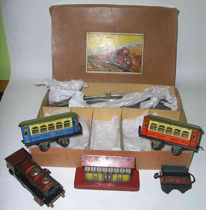 ingap fS 1200 railway toy train set tin