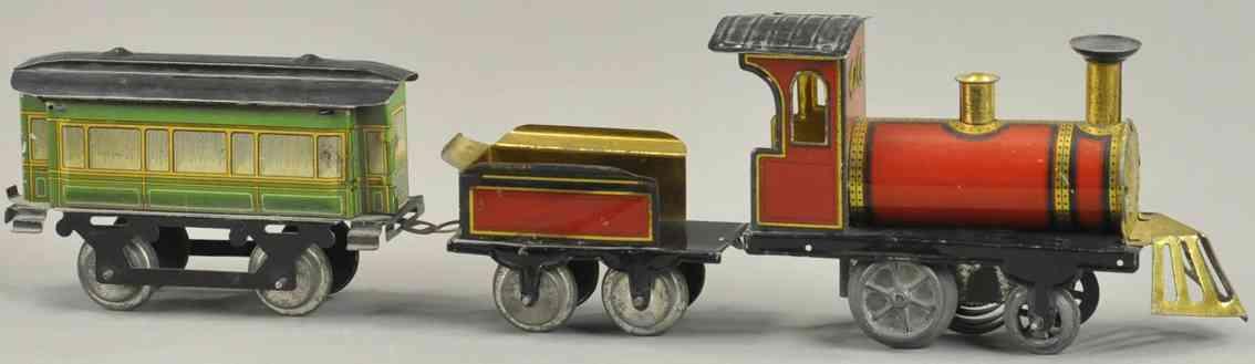 issmayer spielzeug eisenbahn personenzug lokomotive tender ein personenwagen