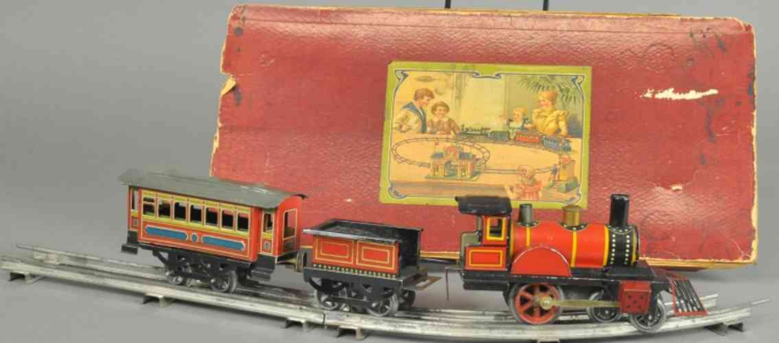 issmayer zug lokomotive tender personenwagen spur 0
