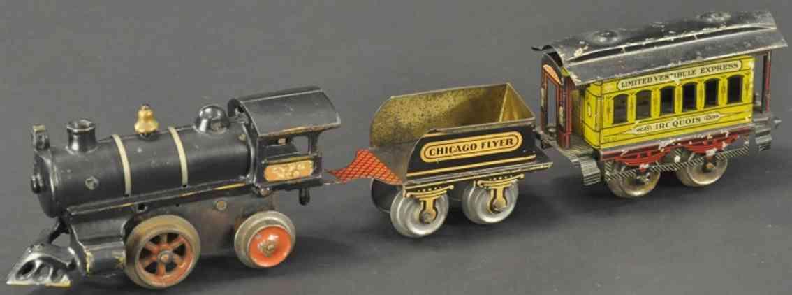 ives set 0 Uhrwerklokomotive 0 tender fe1 personenwagen iroquois 51 dritte serie spur 0